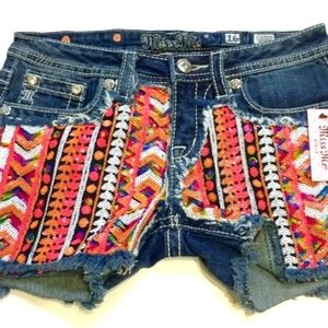 Miss Me Brand Girls Sequin Shorts Size 16